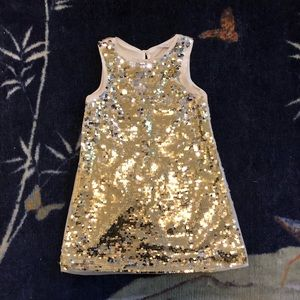H & M Gold Sequin Holiday Dress